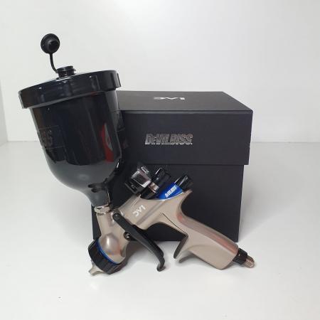 Pistol de vopsit DeVilbiss DV1 VOPSEA (DIGITAL), cupa plastic 600 ml, duza la alegere, consum aer incepand cu 300 l/min [8]