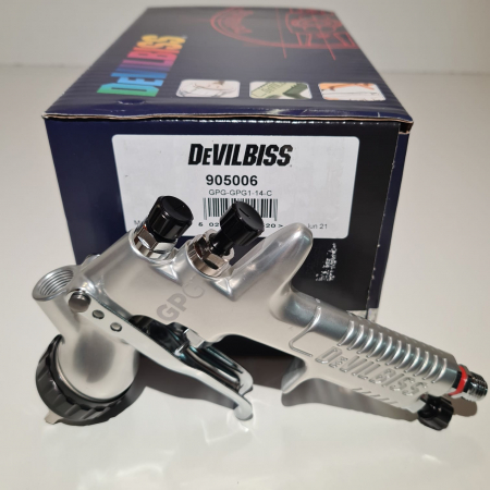 Pistol de vopsit DeVilbiss GPG-GPG1, cupa plastic 560 ml, duza la alegere, consum aer incepand cu 270 l/min [4]