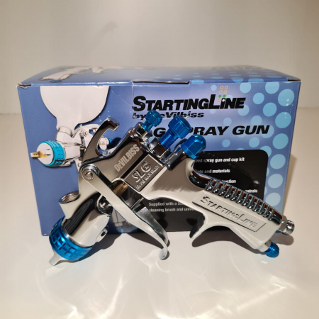 "Pistol de vopsit DeVilbiss SLG-620 ""Starting Line"", cupa plastic 600 ml, duza la alegere, consum aer 250 l/min [7]"
