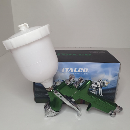 Pistol de vopsit, Italco H-929 HVLP, cupa plastic 600 ml, duza 1.3 mm, consum aer incepand cu 340 l/min [4]