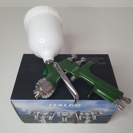 Pistol de vopsit, Italco H-929 HVLP, cupa plastic 600 ml, duza 1.3 mm, consum aer incepand cu 340 l/min [3]