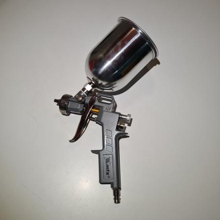 Pistol de vopsit, Matrix 573149, cana metalica 600 ml, duza 1.2, 1.5 si 1.8 mm, consum aer 75 - 230 l/min [8]