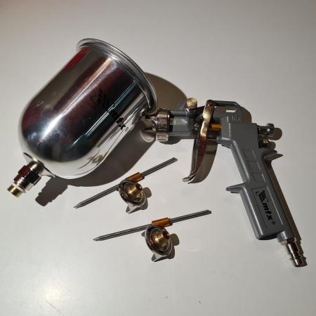 Pistol de vopsit, Matrix 573149, cana metalica 600 ml, duza 1.2, 1.5 si 1.8 mm, consum aer 75 - 230 l/min [5]