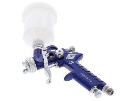 Pistol de vopsit pentru retus, Airpress 45102, cana plastic 125 ml, duza la alegere, consum aer 29-99 l/min [7]