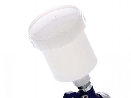 Pistol de vopsit pentru retus, Airpress 45102, cana plastic 125 ml, duza la alegere, consum aer 29-99 l/min [5]