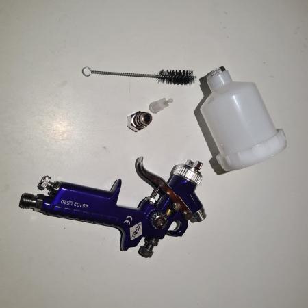 Pistol de vopsit pentru retus, Airpress 45102, cana plastic 125 ml, duza la alegere, consum aer 29-99 l/min [14]