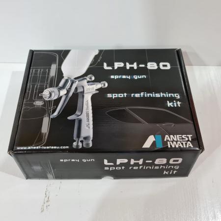 Pistol de vopsit pentru retus, Anest Iwata LPH-80, cupa plastic 70 ml, duza 0.6 - 1.2 mm, consum aer 60 l/min [7]