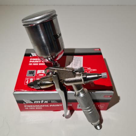 Pistol de vopsit pentru retus, Matrix 573189, cupa metal 200 ml, duza 0.5 mm, consum aer 35 l/min [6]