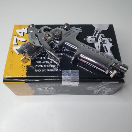 Pistol de vopsit pentru retus, Spray Gun 474, cupa plastic 125 ml, consum aer de la 45 l/min [7]