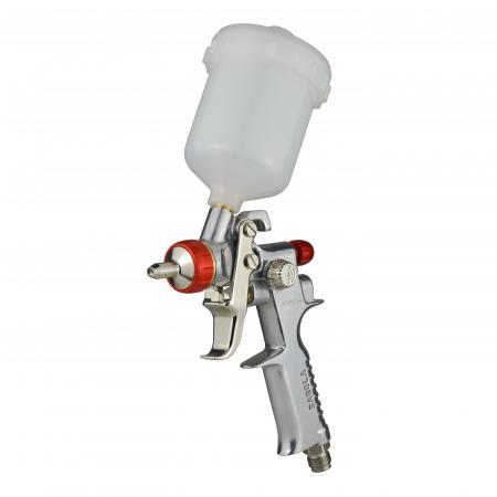 Pistol de vopsit pentru retus, Spray Gun 475 XTECH, cupa plastic 125 ml, duza 0.5 mm, consum aer de la 45 l/min [0]