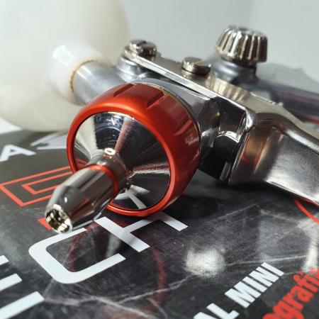 Pistol de vopsit pentru retus, Spray Gun 475 XTECH, cupa plastic 125 ml, duza 0.5 mm, consum aer de la 45 l/min [11]