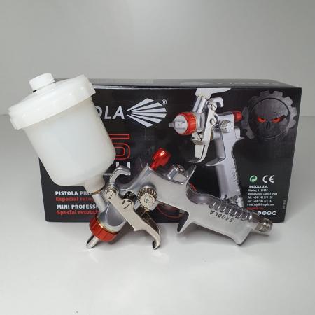 Pistol de vopsit pentru retus, Spray Gun 475 XTECH, cupa plastic 125 ml, duza 0.5 mm, consum aer de la 45 l/min [8]