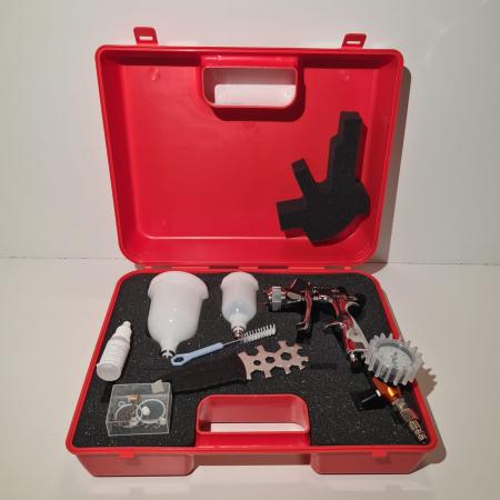 Pistol de vopsit pentru retus, WalcomEGO HTE e Grafo system, consum aer 150 - 190 l/min, cana 80 si 180 ml, duza la alegere [4]