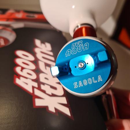 Pistol de vopsit, Sagola 4600 DVR AQUA, air cap DVR AQUA, cupa 650 g, duza 1.2 mm [7]
