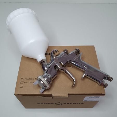 Pistol de vopsit, Sames Kremlin FSTART G Conventional, cupa plastic 600 ml, duza la alegere, consum 386 l/min [8]