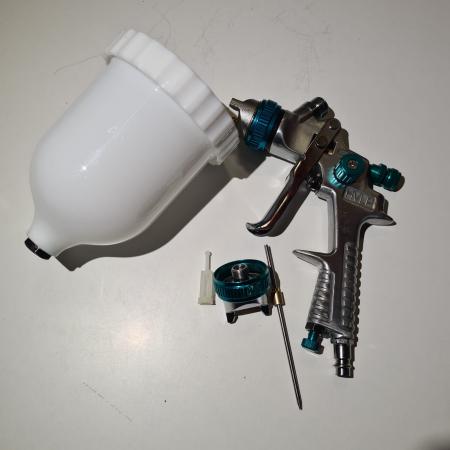 Pistol de vopsit, STELS 57360, cana plastic 600 ml, duza 1.5 mm si 1.8 mm, consum aer 160- 220 l/min [4]