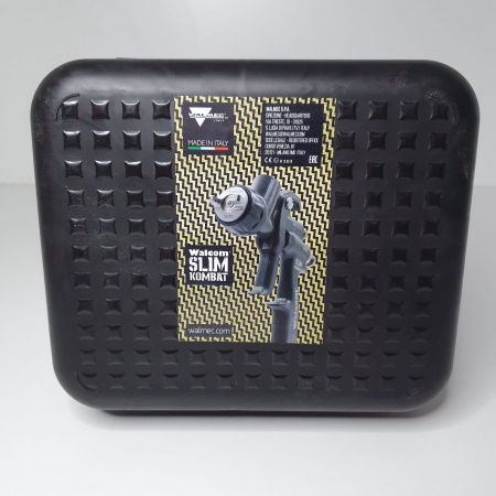 Pistol de vopsit, Walcom Slim KOMBAT HTE 8030xx,cupa plastic 600 ml, duza la alegere, valiza, regulator aer, consum aer incepand cu 250 l/min [6]
