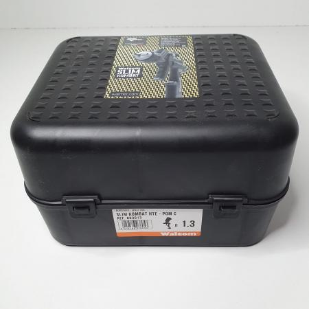 Pistol de vopsit, Walcom Slim KOMBAT HTE 8030xx,cupa plastic 600 ml, duza la alegere, valiza, regulator aer, consum aer incepand cu 250 l/min [15]