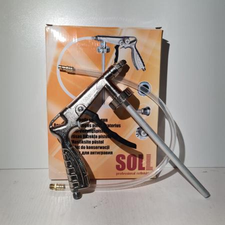 Pistol insonorizant, SOLL SC-5514,  pentru aplicat insonorizant sau ceara cavitati, contine furtun 51 cm [1]