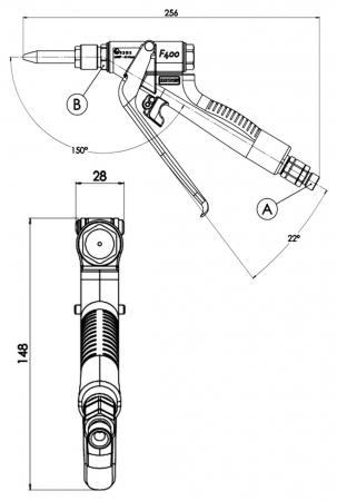 Pistol manual Binks F400 Flow-Guns Presiune max: 414 Bar5