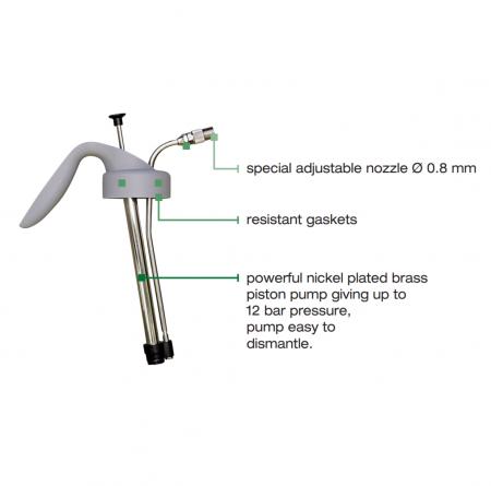 Pompa pulverizat Anest Iwata HCA12.0 High Quality Silver (WB) 1 litru [1]