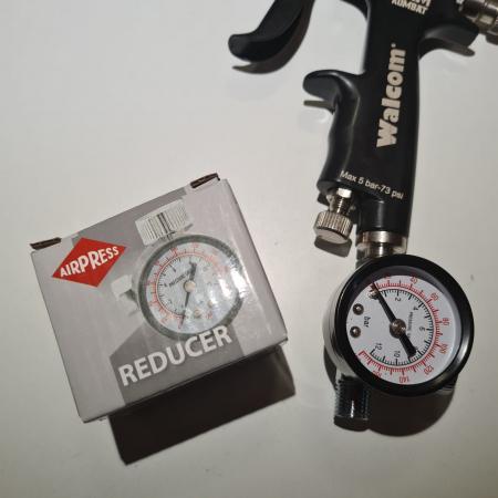 Regulator de presiune aer cu manometru mecanic, Airpress 44807, montare pe furtun, cupla 1/4, maxim 12 bar [2]