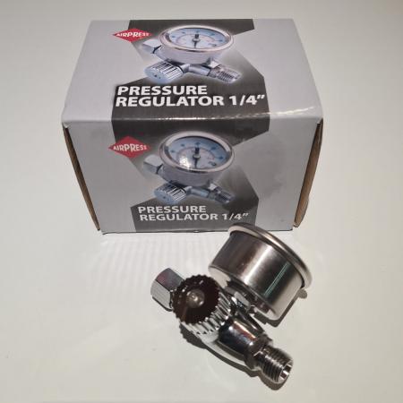 Regulator de presiune aer cu manometru mecanic, Airpress 45748-R, montare pe furtun, cupla 1/4, maxim 10 bar [4]
