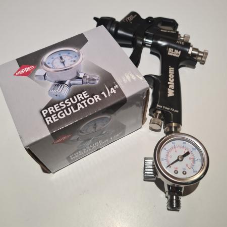 Regulator de presiune aer cu manometru mecanic, Airpress 45748-R, montare pe furtun, cupla 1/4, maxim 10 bar [2]