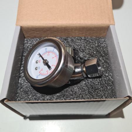 Regulator de presiune aer cu manometru mecanic, Airpress 45748-R, montare pe furtun, cupla 1/4, maxim 10 bar [5]