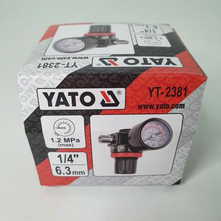 Regulator de presiune  cu manometru mecanic,Yato YT-2381, montare pe furtun [6]
