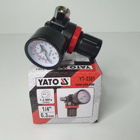Regulator de presiune  cu manometru mecanic,Yato YT-2381, montare pe furtun [2]