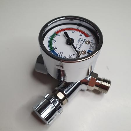 Regulator de presiune aer cu manometru mecanic, Anest Iwata AFV-1, montare pe furtun, cupla 1/4, maxim 12 bar [2]
