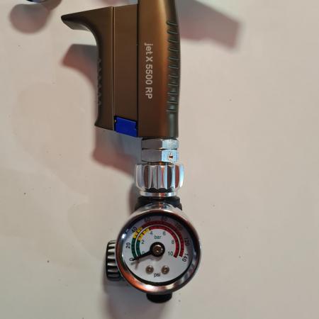 Regulator de presiune aer cu manometru mecanic, Finixa SPG 920, montare pe furtun, cupla 1/4, maxim 10 bar [1]