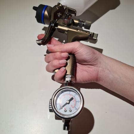Regulator de presiune aer cu manometru mecanic, Gloss GFR-5, montare pe furtun, cupla 1/4, maxim 10 bar [1]