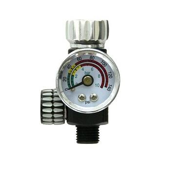 Regulator de presiune aer cu manometru mecanic, Finixa SPG 920, montare pe furtun, cupla 1/4, maxim 10 bar [0]