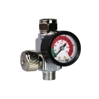 Regulator de presiune aer cu manometru mecanic, Sagola RC2, montare pe furtun, cupla 1/4, maxim 10 bar [0]