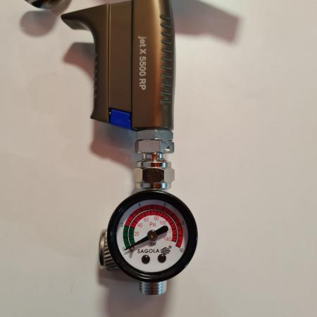 Regulator de presiune aer cu manometru mecanic, Sagola RC2, montare pe furtun, cupla 1/4, maxim 10 bar [1]
