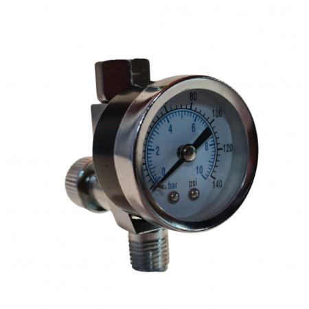 Regulator de presiune aer cu manometru mecanic, StarchemSPG-25, montare pe furtun, cupla 1/4, maxim 10 bar0
