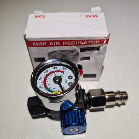 Regulator de presiune aer cu manometru mecanic, ZRBI656, montare pe furtun, cupla 1/4, maxim 10 bar [5]