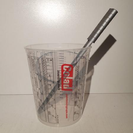 Rigla de mixat vopsea, Finixa MPP 0200, rezistente la solvent, forma in S, lungime 30cm, 1 bucata1