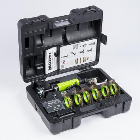 Scula pneumatica, Monti Die Blaster® SDB-001, curatat si pregatit suprafete, 2700 rpm, cutie tansport rezitenta inclusa0