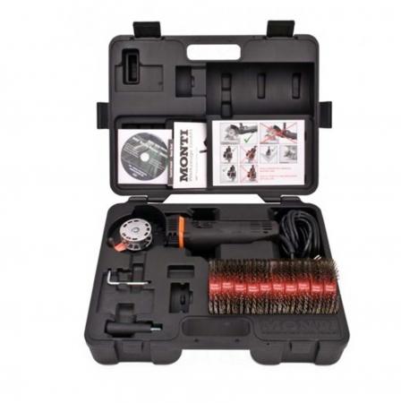 Scula electrica Monti Bristle Blaster® Electric Set SE-677-BMC curatat si pregatit suprafete, putere 700 W, alimentare 230 V0