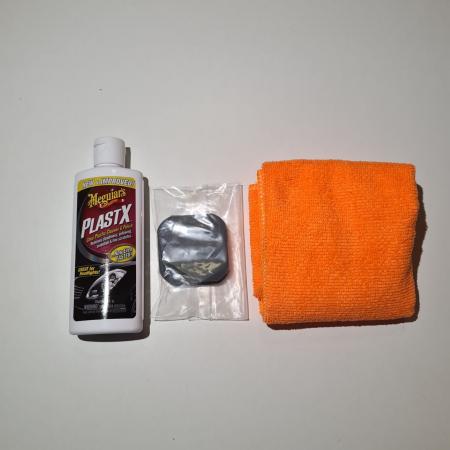 Set restaurare faruri, Meguiar's G2960, contine pasta polish, laveta microfibra, tablete hartie abrazive [2]
