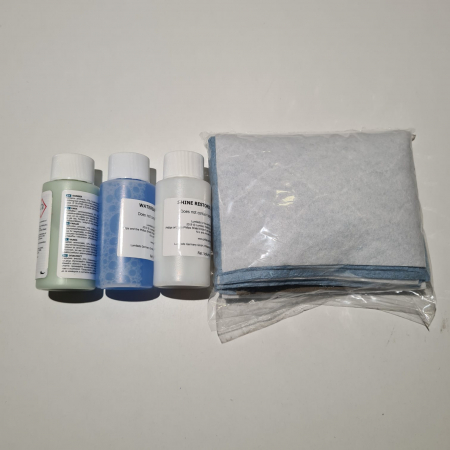 Set restaurare faruri, Philips HRK00XM, contine pretratament, solutie curatare, solutie luciu, coli abrazive, lavete, manusi [1]