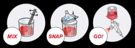 Sistem aplicat vopseaua Snap Lid System® Colad 50 pahare + 50 filtre11
