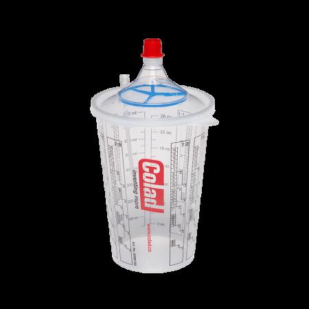 Sistem aplicat vopseaua Snap Lid System® Colad 50 pahare + 50 filtre0
