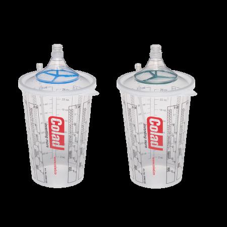 Sistem aplicat vopseaua Snap Lid System® Colad 50 pahare + 50 filtre2