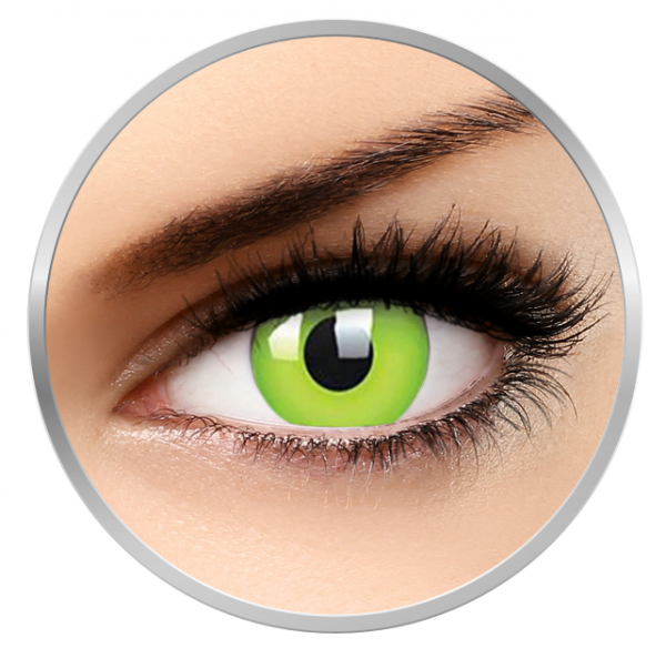ColourVUE Glow Green – Green Contact Lenses yearly - 360 wears (2 lenses/box)