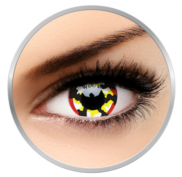 ColourVUE Crazy Klaw - Green Contact Lenses yearly- 360 wears (2 lenses/cutie)
