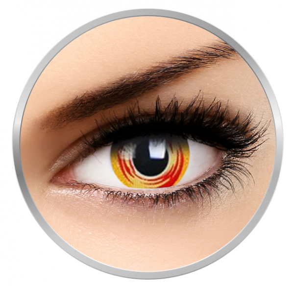 Phantasee Fancy Lost Galaxy - Red/Yellow Contact Lenses yearly - 360 wears (2 lenses/box)